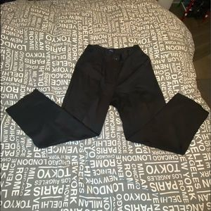 Woman's gently worn black Izod dress pants.
